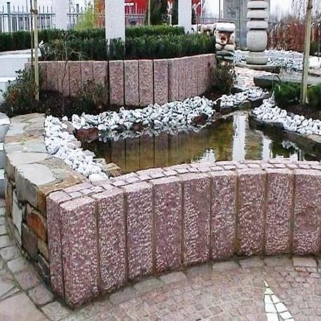Basalt Pflaster Platten 8 cm stark und geflammt 60 x 40 cm